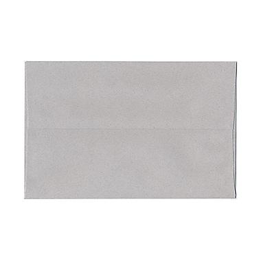JAM PaperMD – Enveloppes format livret en papier recyclé, fermeture gommée, 6 x 9 1/2 po, granite, paq./100
