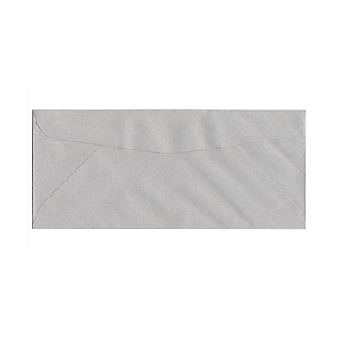 JAM Paper® 4 1/8in. x 9 1/2in. Booklet Granite Passport Recycled Envelopes w/Gum Closure, Granite, 25/Pack