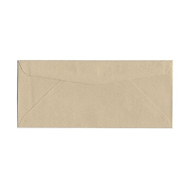 JAM Paper® #10 Business Envelopes, 4 1/8 x 9.5, Sandstone Ivory Recycled, 1000/Pack (71037B)