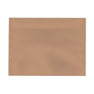 JAM Paper® 9 1/2in. x 12 5/8in. 24lbs. Smooth Booklet Recycled Passport Envelopes, Ginger, 25/Pack
