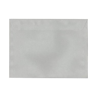 JAM Paper® 9 1/2in. x 12 5/8in. 24lbs. Smooth Booklet Recycled Passport Envelopes, Granite, 25/Pack