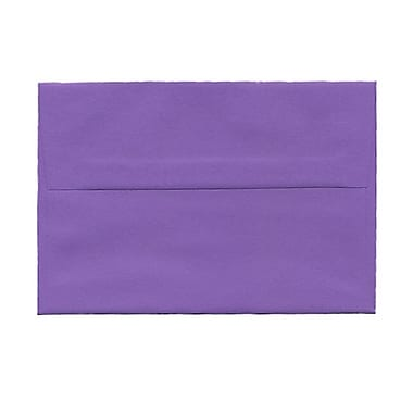 JAM Paper® A6 Invitation Envelopes, 4.75 x 6.5, Brite Hue Violet Purple Recycled, 100/Pack (80260g)