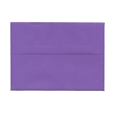 JAM Paper® A7 Invitation Envelopes, 5.25 x 7.25 Brite Hue Violet Purple Recycled, 100/Pack (80278g)