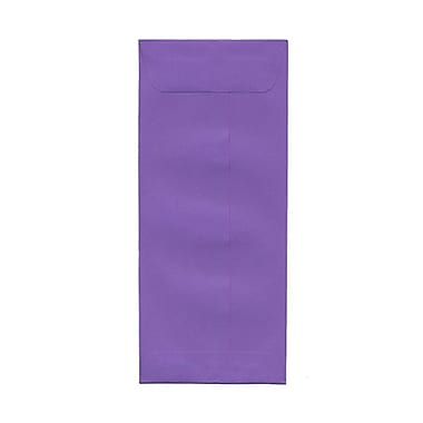 JAM Paper® #10 Policy Envelopes, 4 1/8 x 9.5, Brite Hue Violet Purple Recycled, 1000/Pack (15886B)