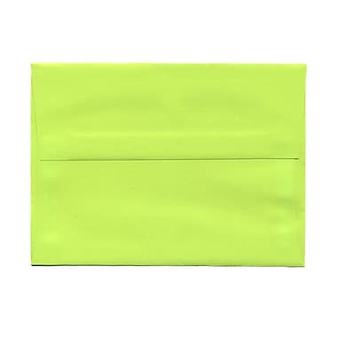 JAM Paper® A7 Invitation Envelopes, 5.25 x 7.25, Brite Hue Ultra Lime Green, 100/Pack (96151g)