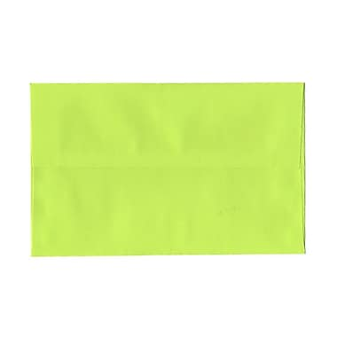 JAM Paper® A10 Invitation Envelopes, 6 x 9.5, Brite Hue Ultra Lime Green, 100/Pack (20835g)
