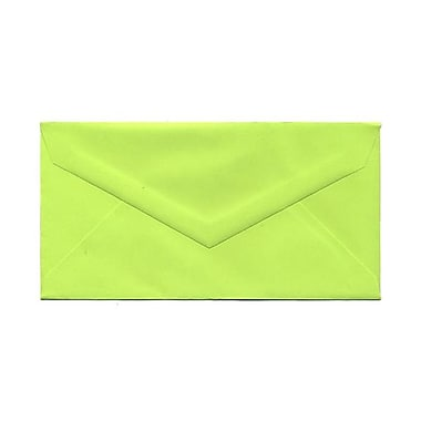 JAM Paper® Monarch Envelopes, 3.88 x 7.5, Brite Hue Ultra Lime, 100/Pack (34097579g)