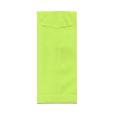 JAM Paper® #11 Policy Envelopes, 4.5 x 10.38, Brite Hue Lime Green, 100/Pack (3156392g)