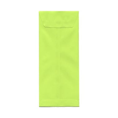 JAM Paper® #12 Policy Envelopes, 4.75 x 11, Brite Hue Lime Green, 100/Pack (3156398g)