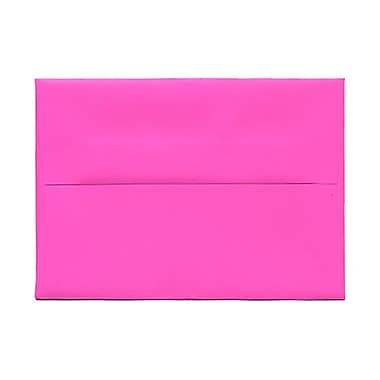 JAM Paper® 4bar A1 Envelopes, 3.63 x 5 1/8, Brite Hue Ultra Fuchsia Pink, 1000/Pack (15790B)