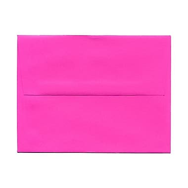 JAM Paper® A2 Invitation Envelopes, 4.38 x 5.75, Brite Hue Ultra Fuchsia Pink, 100/Pack (12844g)