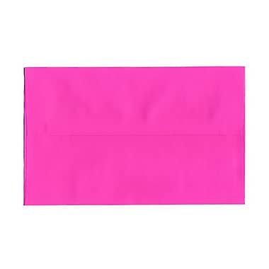 JAM PaperMD – Enveloppes format livret de couleur vive, ferm. gommée, 6 x 9 1/2 po, rose fuchsia éclatant, paq./100