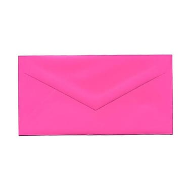 JAM Paper® Monarch Envelopes, 3.88 x 7.5, Brite Hue Ultra Fuchsia Pink, 100/Pack (34097578g)