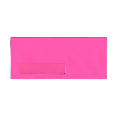 JAM Paper® Window Booklet Brite Hue Envelopes with Gum Closure, 4-1/8