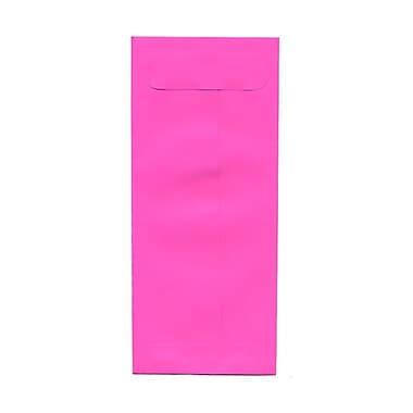 JAM Paper® #10 Policy Envelopes, 4 1/8 x 9.5, Brite Hue Ultra Fuchsia Pink, 100/Pack (15865g)