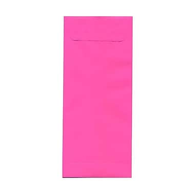 JAM Paper® #14 Policy Envelopes, 5 x 11.5, Brite Hue Ultra Fuchsia Pink, 100/Pack (3156402g)