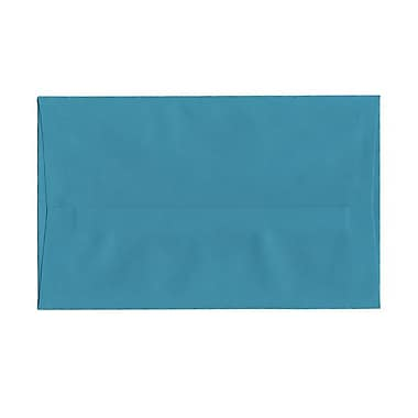 JAM Paper® A10 Invitation Envelopes, 6 x 9.5, Brite Hue Sea Blue Recycled, 100/Pack (70249g)