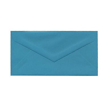 JAM Paper® Monarch Envelopes, 3.88 x 7.5, Brite Hue Sea Blue Recycled, 100/Pack (34097576g)