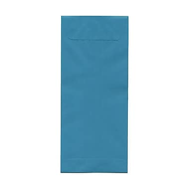 JAM Paper® #14 Policy Envelopes, 5 x 11.5, Brite Hue Sea Blue Recycled, 100/Pack (3156406g)