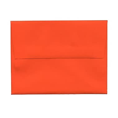 JAM Paper® 4bar A1 Envelopes, 3.63 x 5 1/8, Brite Hue Orange Recycled, 1000/Pack (15808B)