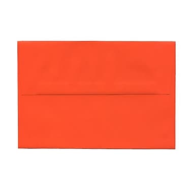JAM Paper® A8 Invitation Envelopes, 5.5 x 8.125, Brite Hue Orange Recycled, 1000/Pack (95740B)