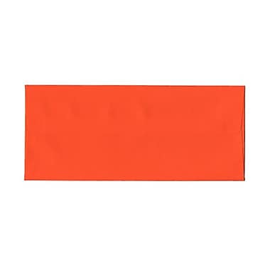 JAM Paper® #10 Business Envelopes, 4 1/8 x 9.5, Brite Hue Orange Recycled, 1000/Pack (15860B)