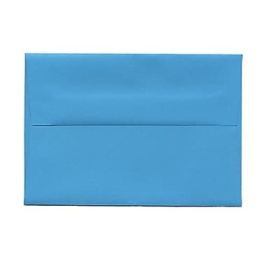 JAM Paper® 4bar A1 Envelopes, 3.63 x 5 1/8, Brite Hue Blue Recycled, 100/Pack (15805g)