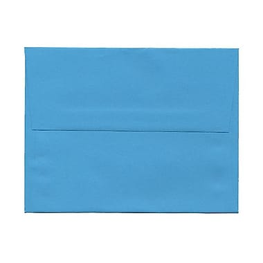 JAM Paper® A2 Invitation Envelopes, 4.38 x 5.75, Brite Hue Blue Recycled, 100/Pack (WDBH600g)