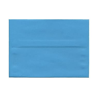 JAM Paper® 5 1/4in. x 7 1/4in. Brite Hue Recycled Invitation Envelopes w/Gum Closure, Blue, 25/Pack