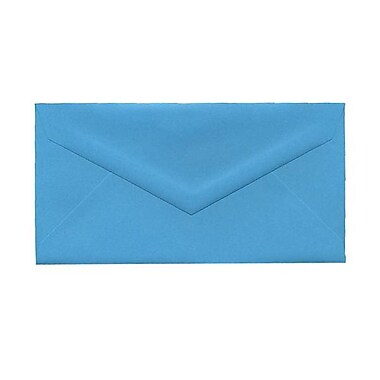 JAM Paper® Monarch Envelopes, 3.88 x 7.5, Brite Hue Blue Recycled, 100/Pack (34097574g)