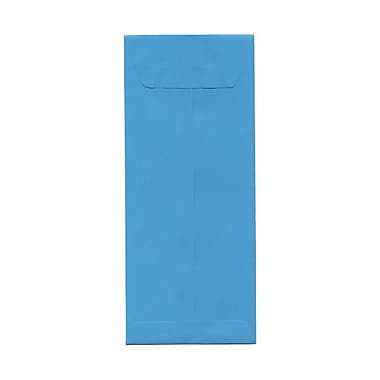 JAM Paper® #12 Policy Envelopes, 4.75 x 11, Brite Hue Blue Recycled, 100/Pack (3156401g)