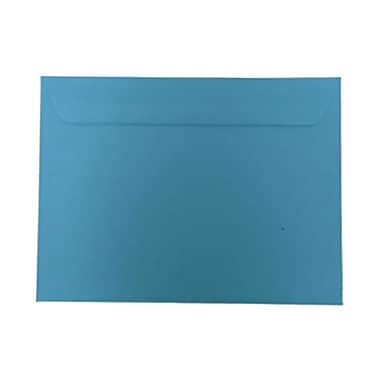 JAM Paper® 9 x 12 Booklet Envelopes, Brite Hue Blue Recycled, 100/Pack (5156774g)
