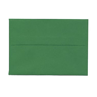 JAM Paper® 4bar A1 Envelopes, 3.63 x 5 1/8, Brite Hue Christmas Green Recycled, 1000/Pack (15811B)