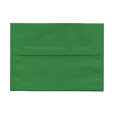 JAM Paper® A7 Invitation Envelopes, 5.25 x 7.25, Brite Hue Green Recycled, 1000/Pack (95617B)