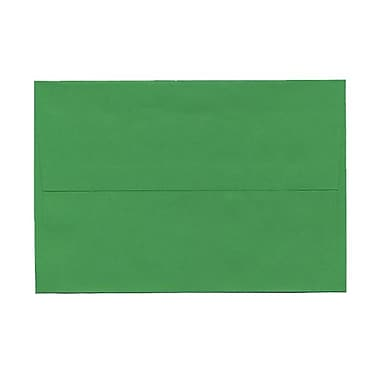 JAM Paper® A8 Invitation Envelopes, 5.5 x 8.125, Brite Hue Green Recycled, 100/Pack (95625g)