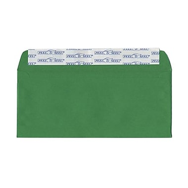 JAM Paper® 4 1/8in. x 9 1/2in. Brite Hue Recycled Envelopes w/Peal & Seal Closure, Christmas Green, 25/Pack
