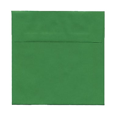 JAM Paper® 6 x 6 Square Envelopes, Brite Hue Green Recycled, 100/Pack (2792267g)
