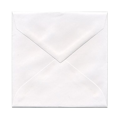 JAM Paper® 5.75 x 5.75 Square Envelopes, White with V-Flap, 100/Pack (03994896B)