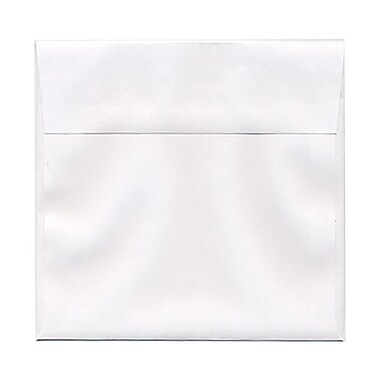 JAM Paper® 6.5 x 6.5 Square Envelopes, White, 100/Pack (28417B)