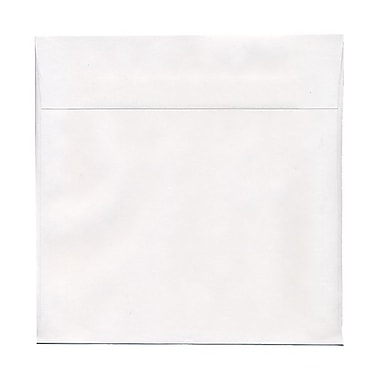 JAM Paper® 10 1/2in. x 10 1/2in. Square Regular Envelopes w/Gum Closure, White, 100/Pack