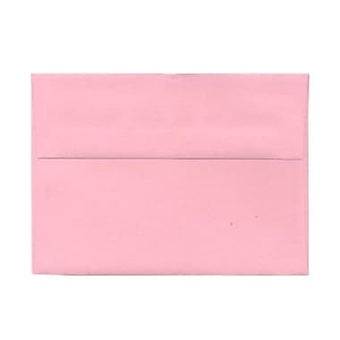 JAM Paper® A7 Invitation Envelopes, 5.25 x 7.25, Baby Pink, 100/Pack (155627g)
