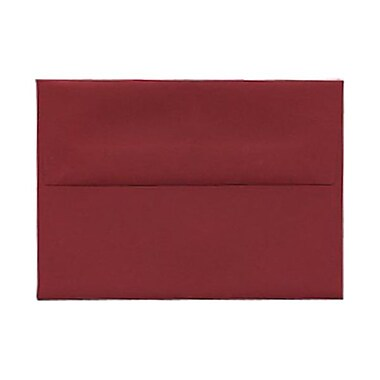 JAM Paper® 4bar A1 Envelopes, 3.63 x 5 1/8, Dark Red, 100/Pack (5157437g)