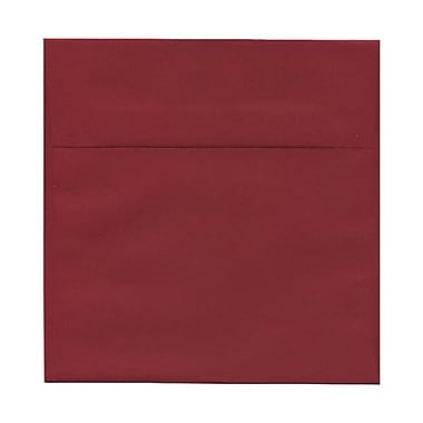 JAM Paper® 8.5 x 8.5 Square Envelopes, Dark Red, 100/Pack (31511323g)