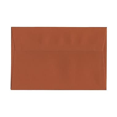 JAM Paper® A9 Invitation Envelopes, 5.75 x 8.75, Dark Orange, 100/Pack (61511364g)
