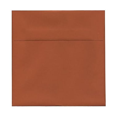 JAM Paper® 8.5 x 8.5 Square Envelopes, Dark Orange, 100/Pack (3157503g)