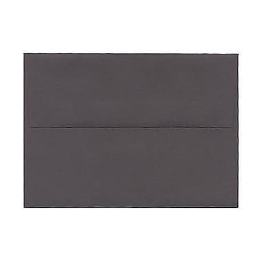 JAM Paper® 4bar A1 Envelopes, 3.63 x 5 1/8, Dark Grey, 100/Pack (36396431g)