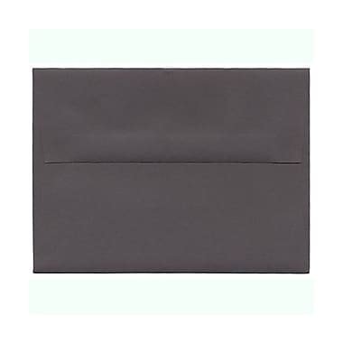 JAM Paper® A6 Invitation Envelopes, 4.75 x 6.5, Dark Grey, 100/Pack (36396433g)