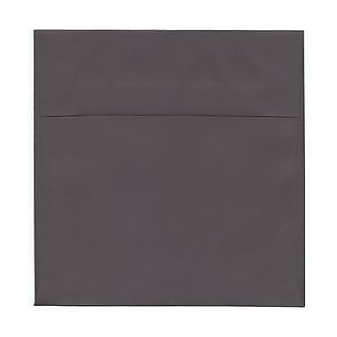 JAM Paper® 8.5 x 8.5 Square Envelopes, Dark Grey, 100/Pack (36396440g)