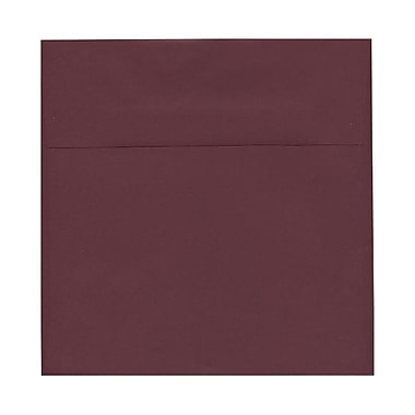 JAM Paper® 8.5 x 8.5 Square Envelopes, Burgundy, 100/Pack (36395841g)