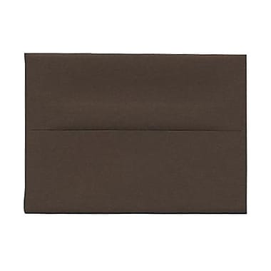JAM Paper® 4bar A1 Envelopes, 3.63 x 5 1/8, Chocolate Brown Recycled, 1000/Pack (233708B)